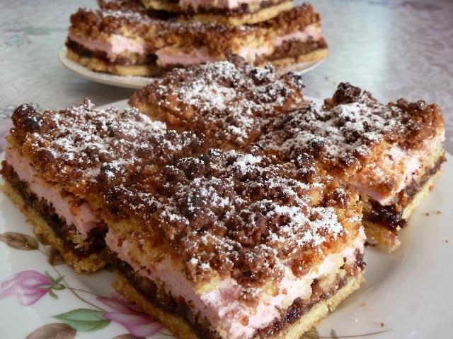 Pleśniak z liliową bezą, ciasto pleśniak, Kolorowy przepisownik