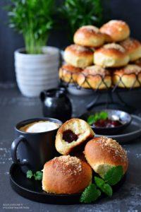 Buleczki drozdzowe zdzemem ikruszonka, drozdzowki, najlepsze drozdzowki, buleczki drozdzowe, uniwersalne ciasto drozdzowe, przepis nabuleczki - Ko