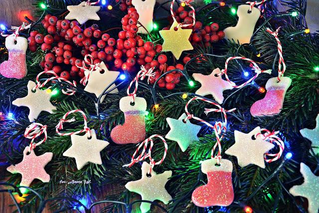 Ozdoby zsuchej porcelany, DIY, Boże Narodzenie