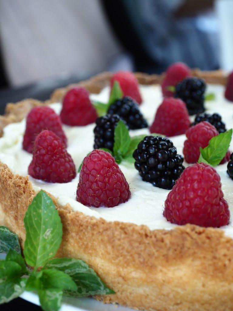 Warsztaty fotografii kulinarnej z Olympus Polska, tarta z owocami