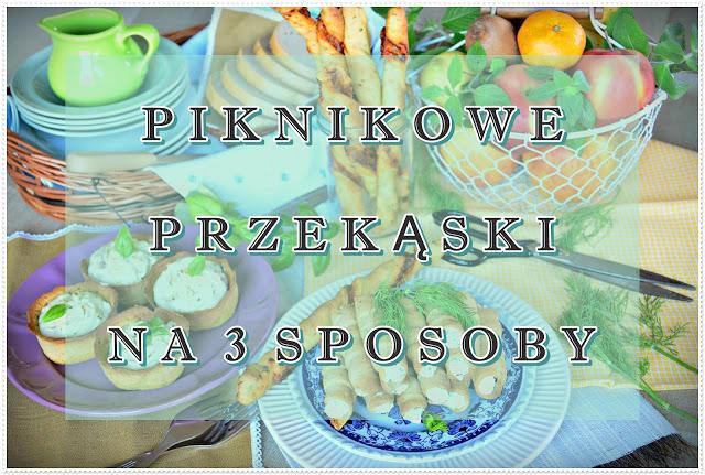 Piknikowe przekąski na 3 sposoby, paluchy, tartaletki, wytrawne rurki