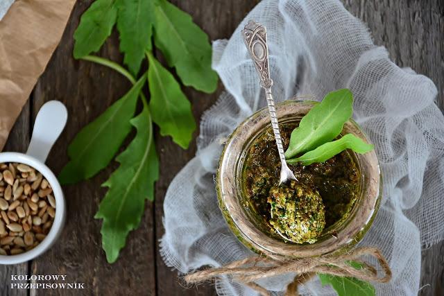 Pesto z rukoli ze słonecznikiem, zielone pesto