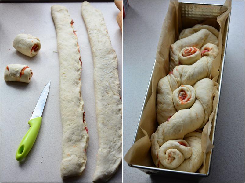 Chleb o smaku pizzy