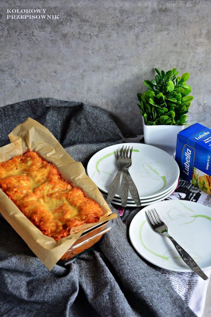 Lasagne, lasagne z soczewicą, lazania z soczewicą, lazania