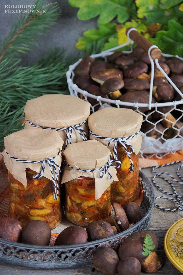 Sałatka pomidorowa z grzybów leśnych, przetowry z grzybów