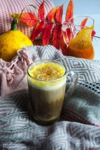 Dyniowa latte, pumpkin spice latte, pumpkin latte, dyniowa kawa - Kolorowy Przepisownik