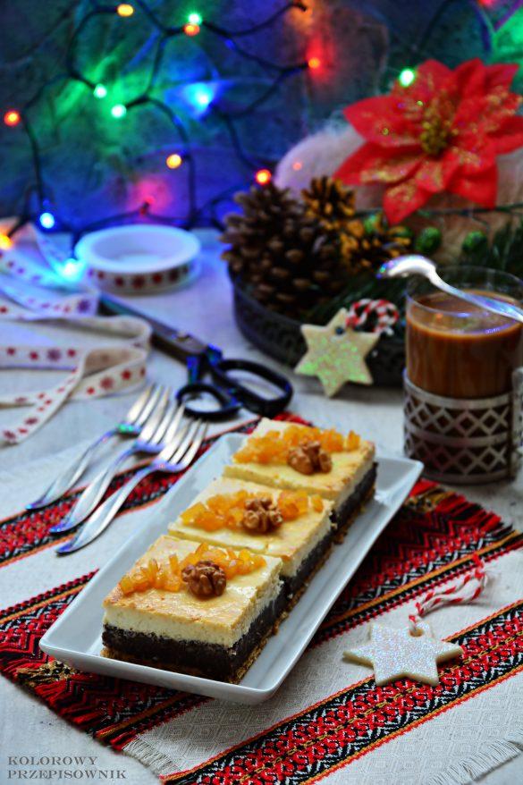 Sero-makowiec na herbatnikach, seromak, sernik z makiem, makowiec z serem