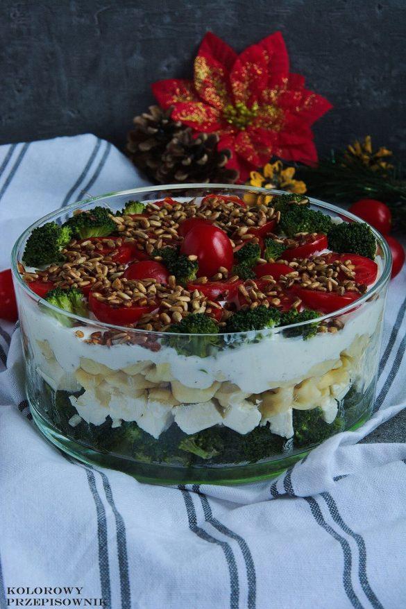 Sałatka warstwowa z brokułem i tortellini, e-book z przepisami