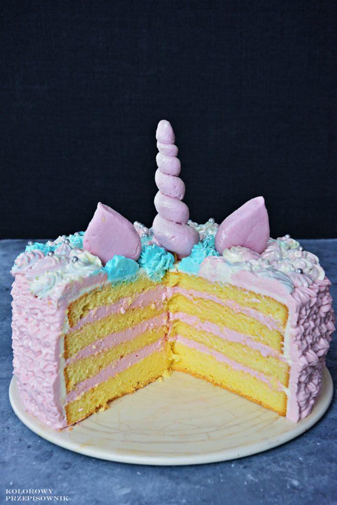 Tort jednorożec, tort tęczowy, tort naurodziny dziecka, tort dla dziecka, Tort kucyk pony - Kolorowy Przepisownik