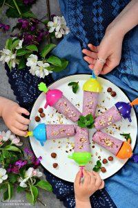 Lody owocowo-kokosowe (wegańskie), lody owocowe, lody wegańskie, lody kokosowe, deser lodowy, przepis nalody, lody dla dzieci - Kolorowy Przepisownik
