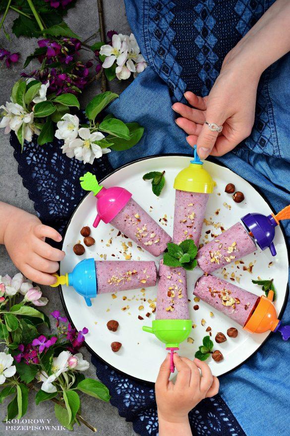 Lody owocowo-kokosowe (wegańskie), lody owocowe, lody wegańskie, lody kokosowe, deser lodowy, przepis na lody, lody dla dzieci - Kolorowy Przepisownik
