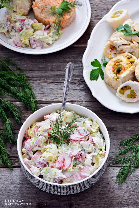Sałatka do obiadu, sałatka do grilla, sałatka obiadowa, szybka sałatka, sałatka do mięsa, sałatka do ryby - Kolorowy Przepisownik