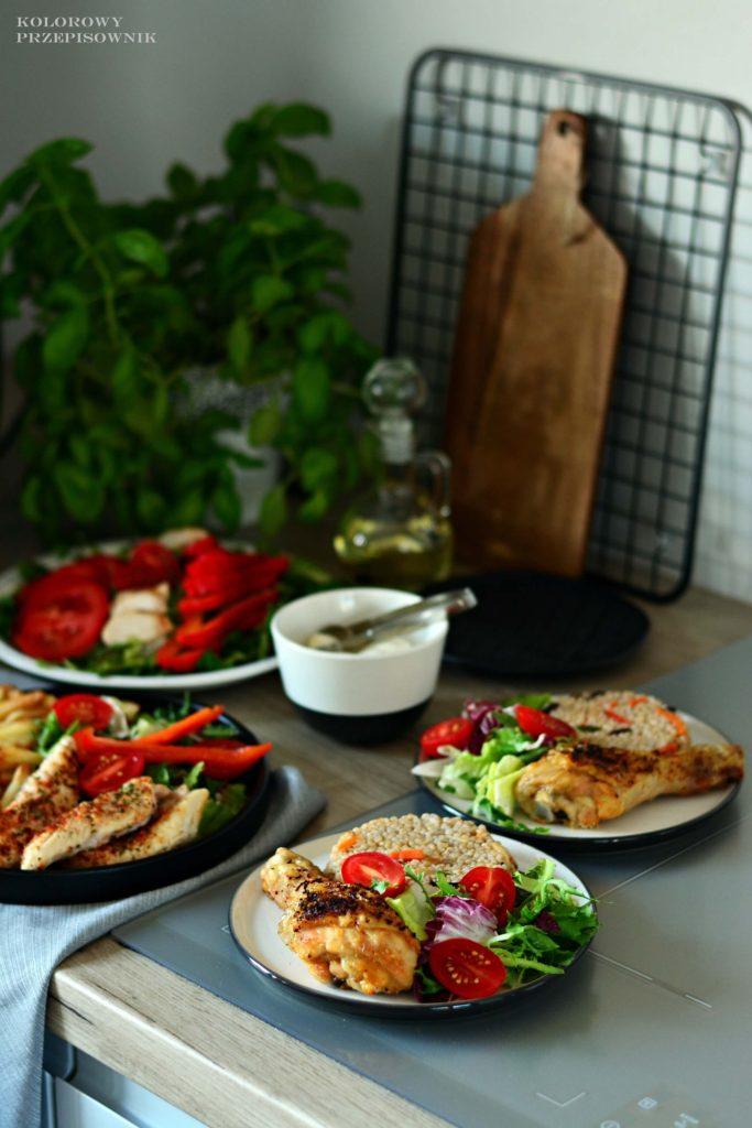 Polędwiczki zkurczaka zfrytkownicy Freat, Frytkownica beztłuszczowa Freat Home Overmax, frytki, frytki pieczone, mięso pieczone_1
