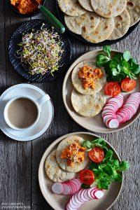 Wrapy wegańskie bezglutenowe, Mini wrapy bezglutenowe, wrapy wegańskie, przepisy wegańskie, e-book, dieta wegańska