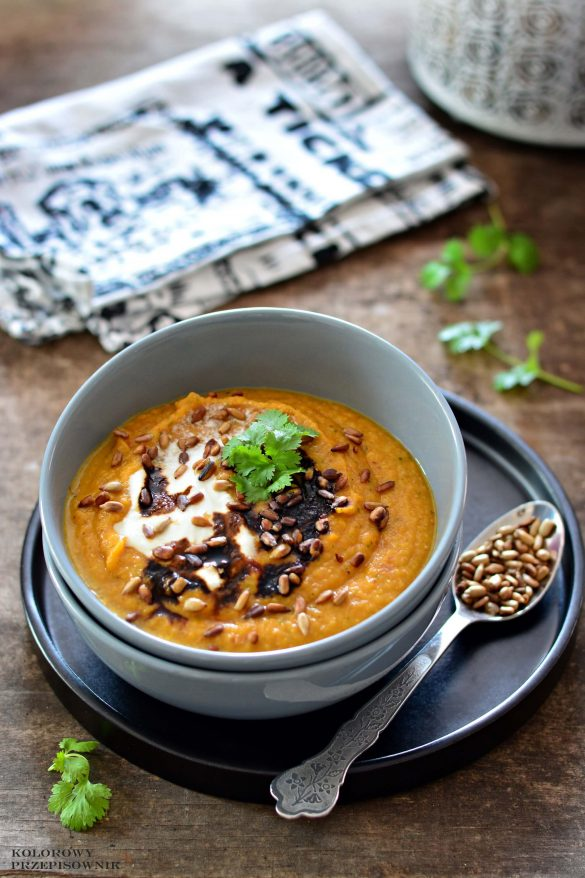 Zupa krem z młodej marchewki, zupa marchewkowa, krem marchewkowy, zupa z młodej marchewki - Kolorowy Przepisownik blog kulinarny, sprawdzone przepisy