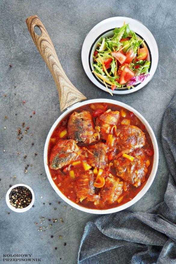 Faszerowane podudzia z kurczaka w sosie orientalnym