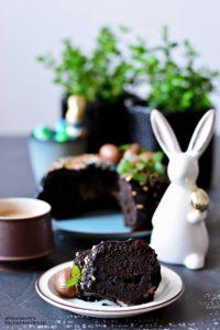 Babka czekoladowa brownie, babka wielkanocna, babka brownie, ciasto brownie, brownie zgorzkiej czekolady - Kolorowy przepisownik, sprawdzone przepisy