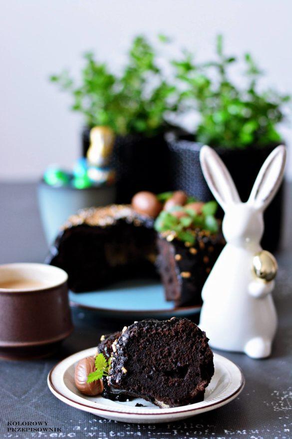 Babka czekoladowa brownie, babka wielkanocna, babka brownie, ciasto brownie, brownie z gorzkiej czekolady - Kolorowy przepisownik, sprawdzone przepisy