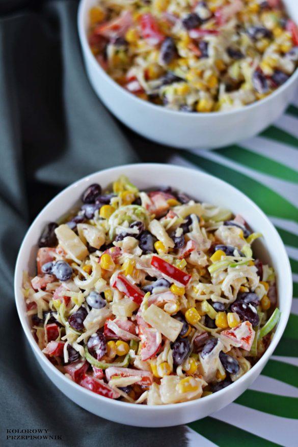Salatka meksykanska, salatka z ananasem, salatka z papryka, salatka na sylwestra, salatka dla dzieci - Kolorowy Przepisownik, sprawdzone przepisy