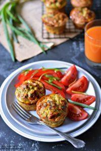 Muffiny jajeczne zawokado ipłatkami quinoa, muffiny naśniadanie, jajka naśniadanie, przepisy śniadanie, przepisy naWielkanoc - Kolorowy Przepisownik, sprawdzone przepisy
