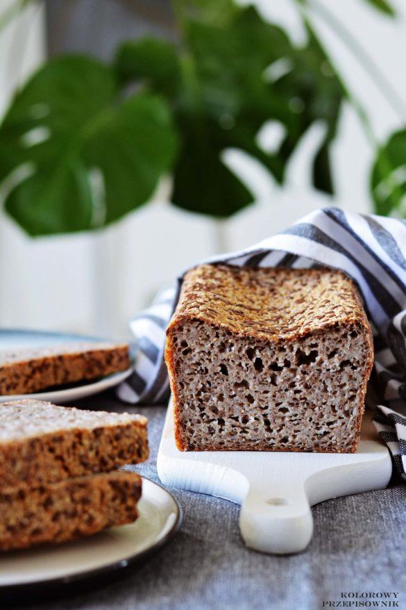 Chleb z kaszy gryczanej niepalonej, chleb bezglutenowy, chleb gryczany, domowy chleb, domowe pieczywo - Kolorowy Przepisownik, sprawdzone przepisy