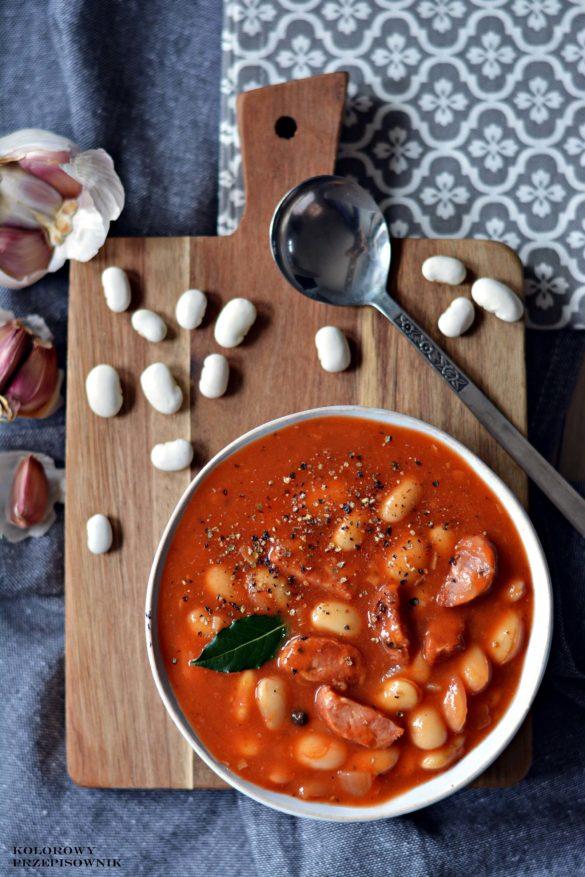 Fasolka po bretonsku, zupa fasolowa, zupa grochowa, zupa z kielbasa - Kolorowy Przepisownik, sprawdzone przepisy